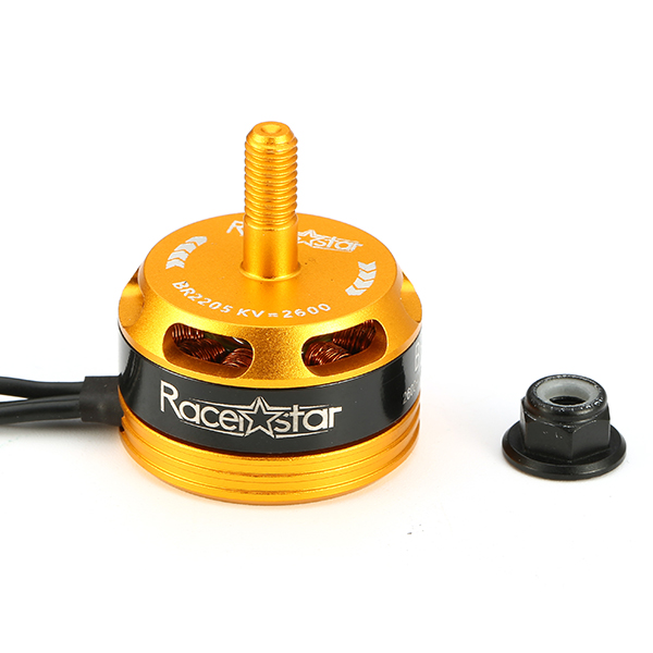 Racerstar Racing Edition 2205 BR2205 2600KV 2-4S Brushless Motor Yellow CW/CCW for 220 250 280 RC Drone FPV Racing