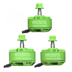 Racerstar 2507 BR2507S Green Edition 1800KV 2400KV 2700KV 3-6S Brushless Motor For RC Drone