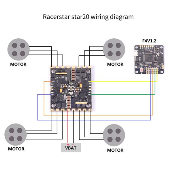 Racerstar Star20 20A Blheli S 24S Detachable 4 In 1    ESC