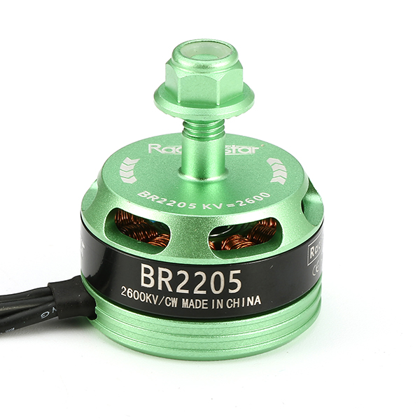 Racerstar Racing Edition 2205 BR2205 2600KV 2-4S Brushless Motor Green CW/CCW For 220 250 260 RC Drone FPV Racing